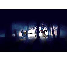 Splatter house pixel art Photographic Print