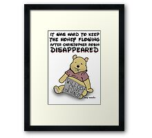 Winnie the Addict Framed Print
