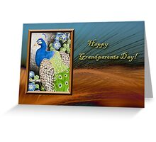 Grandparents Day Peacock Greeting Card
