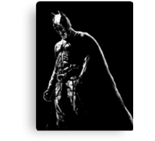 The Dark Knight (black background) Canvas Print