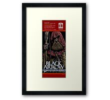 THE BLACK ARROW - FAUX THEATRE POSTER Framed Print
