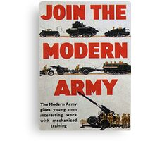 Join the Army Canvas Print