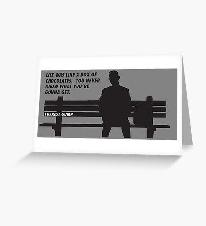 FORREST GUMP - CHOCOLATES Greeting Card