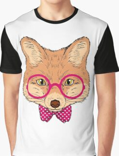 Hipster Fox Design  Graphic T-Shirt