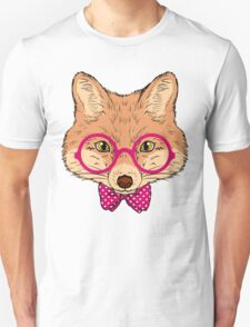 Hipster Fox Design  T-Shirt