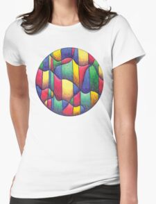Fish Mandala Full-Color T-Shirt Womens Fitted T-Shirt