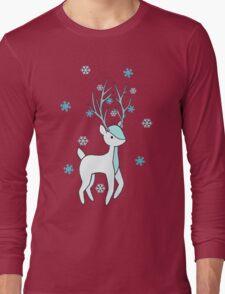 Snowflake Deer Long Sleeve T-Shirt