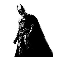The Dark Knight (transparent background) Photographic Print