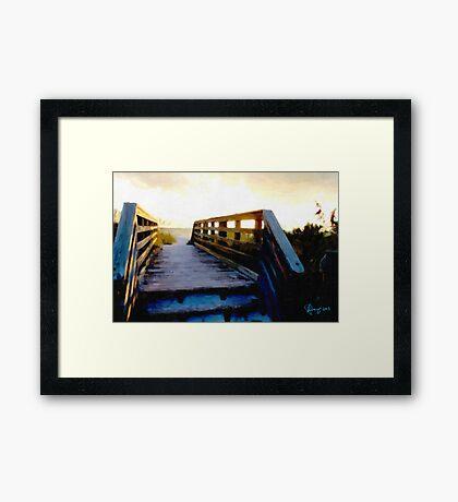 Sunset Boardwalk Framed Print
