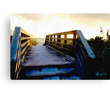 Sunset Boardwalk Canvas Print