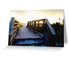 Sunset Boardwalk Greeting Card