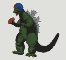 Godzilla Football by sausagechowder