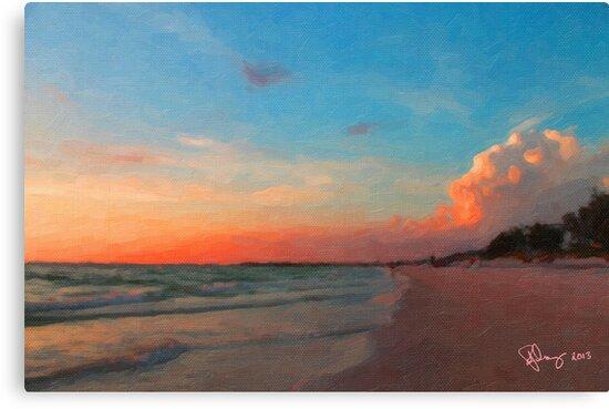 Sunset Beach by Richard Darcy