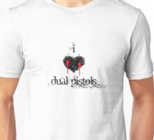 I <3 Dual Pistols (black & red) Unisex T-Shirt