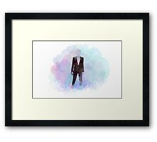 Space Suit Watercolor Framed Print