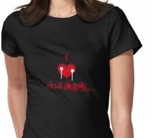 I <3 Dual Pistols (red & white) Womens Fitted T-Shirt