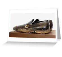 Billionaire Genshiro Kawamoto: Big Shoes To Fill. Greeting Card