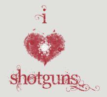 I <3 Shotguns (red & white) by Jess Meacham