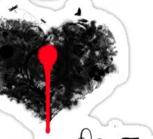 I <3 Sniper Rifles (black & red) Sticker