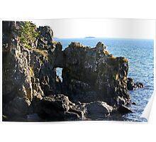 Castle Rocks at Creyke Point   Poster