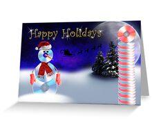 Happy Holidays CD Snowman Greeting Card