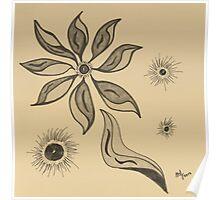 Flowering Joy in Sepia Poster
