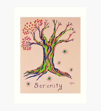 Calm Reflections Serenity Tree Art Print