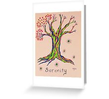 Calm Reflections Serenity Tree Greeting Card