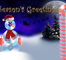 Season's Greetings CD Snowman by jkartlife