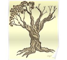Coming Back to Serenity Tree in Sepia Poster