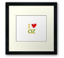 I Love Oz Framed Print