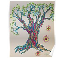 Glowing in Serenity Tree Poster