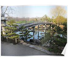 Bridge to Japanese Garden Poster