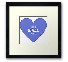Niall Girl ( One Direction ) Framed Print