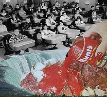 Feed them not teach them - A Critique of the American Educational System (Triptych) by Zabu Stewart by Zabu Stewart