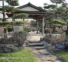 Japanese Gardens-to the Shelter by Kathie  Chicoine
