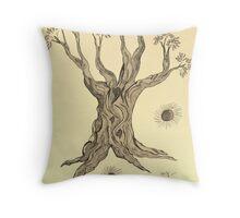 Joy of Serenity Tree in Sepia Throw Pillow