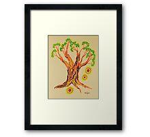 Shining in Serenity Tree Framed Print