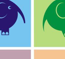 elephant bag art design Sticker