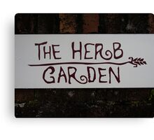 The Herb Garden Canvas Print