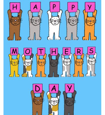 Happy Mother's Day with cats. Sticker