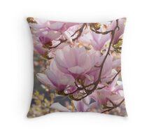 Lovely Magnolia Tree Theme Throw Pillow