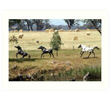 Horses at play Art Print