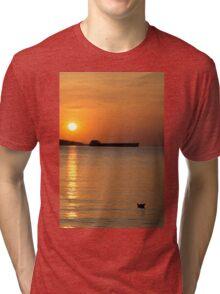 Paper ship vs. iron ship Tri-blend T-Shirt