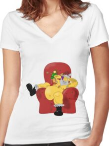 Sexy Santa Women's Fitted V-Neck T-Shirt