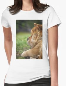 Chow-Chow dog portrait Womens Fitted T-Shirt