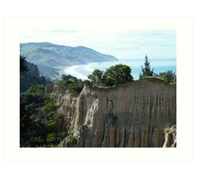 Cathedral Cliffs, Gore Bay Art Print