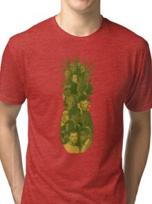 Pineapple Outline Psych Cast Tri-blend T-Shirt