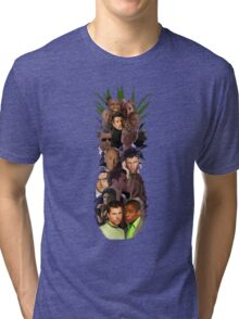 Pineapple Outline Psych Cast w/o Gradient Tri-blend T-Shirt