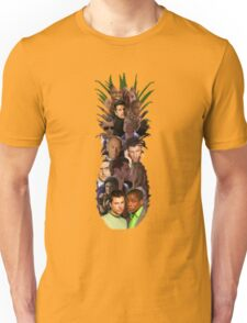 Pineapple Outline Psych Cast w/o Gradient Unisex T-Shirt